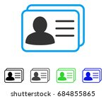 account cards flat vector... | Shutterstock .eps vector #684855865