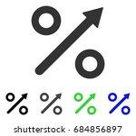 growing percent flat vector... | Shutterstock .eps vector #684856897