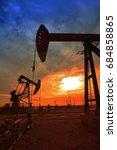 the oil pump  industrial... | Shutterstock . vector #684858865