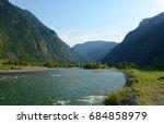 bashkaus river flows between... | Shutterstock . vector #684858979