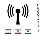 wireless icon   stock vector... | Shutterstock .eps vector #684861325