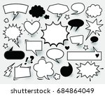 a set of comic speech bubbles... | Shutterstock .eps vector #684864049