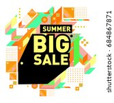 summer sale memphis style web... | Shutterstock .eps vector #684867871
