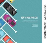 how to park your car poster in... | Shutterstock .eps vector #684869851