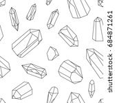 crystals graphic seamless... | Shutterstock . vector #684871261