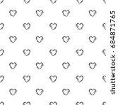 valentines day background.... | Shutterstock .eps vector #684871765