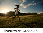young fitness woman runner... | Shutterstock . vector #684873877