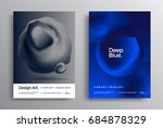 awesome gradient posters with a ... | Shutterstock .eps vector #684878329