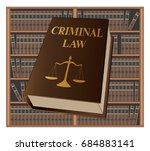 criminal law is an illustration ... | Shutterstock . vector #684883141