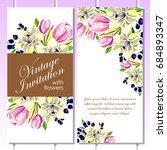vintage delicate invitation...   Shutterstock . vector #684893347