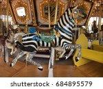 A Zebra Ride In A Carousel.