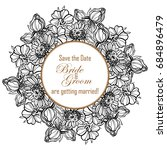 romantic invitation. wedding ... | Shutterstock . vector #684896479