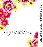 romantic invitation. wedding ... | Shutterstock .eps vector #684896545