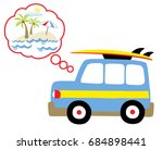 holiday time vector cartoon... | Shutterstock .eps vector #684898441