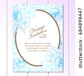 romantic invitation. wedding ... | Shutterstock . vector #684898447