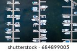 Aerial View Of Boats In A Marina