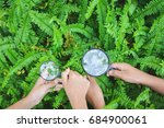 close up hands holding... | Shutterstock . vector #684900061