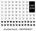 set of shopping cart icon | Shutterstock .eps vector #684900667