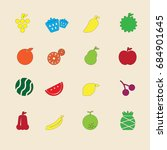 the fruit vector icon  design | Shutterstock .eps vector #684901645