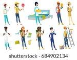 profession set for women  ... | Shutterstock .eps vector #684902134