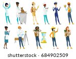 profession set for women  ... | Shutterstock .eps vector #684902509