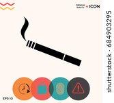 cigarette icon   Shutterstock .eps vector #684903295