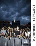Small photo of Nyon, Switzerland - 20 July 2017: audience attending the concert of British funk and acid jazz band Jamiroquai at Paleo Festival