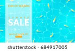 web banner with water texture... | Shutterstock .eps vector #684917005