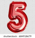 brilliant balloon font number 5 ... | Shutterstock . vector #684918679