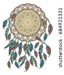 ethnic illustration  tribal...   Shutterstock .eps vector #684921331