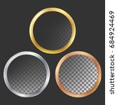 gold  silver  bronze  copper... | Shutterstock . vector #684924469