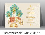 wedding invitation card... | Shutterstock .eps vector #684928144