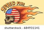 vector illustration of skull... | Shutterstock .eps vector #684931141