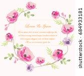 vintage beautiful purple pink...   Shutterstock .eps vector #684933181