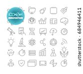 outline icon set. vector... | Shutterstock .eps vector #684946411