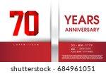 70th years anniversary... | Shutterstock .eps vector #684961051