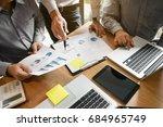 business executives team... | Shutterstock . vector #684965749