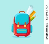 school backpack icon. kids... | Shutterstock .eps vector #684967714