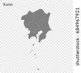 high quality map of kanto is a... | Shutterstock .eps vector #684967921