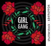 girl gang   fashion patch or... | Shutterstock .eps vector #684969934