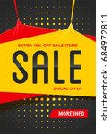 black extra sale poster or... | Shutterstock .eps vector #684972811