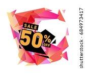 summer sale memphis style web... | Shutterstock .eps vector #684973417