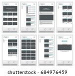 web site vector template | Shutterstock .eps vector #684976459