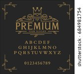 premium font. premium vector... | Shutterstock .eps vector #684981754