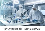 in a secure high level... | Shutterstock . vector #684988921