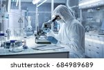 in a secure high level research ... | Shutterstock . vector #684989689