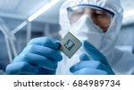 in ultra modern electronic... | Shutterstock . vector #684989734
