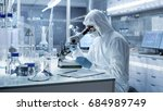 in a secure high level research ... | Shutterstock . vector #684989749