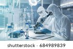 in a secure high level... | Shutterstock . vector #684989839