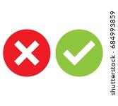 check mark  cross mark ... | Shutterstock .eps vector #684993859